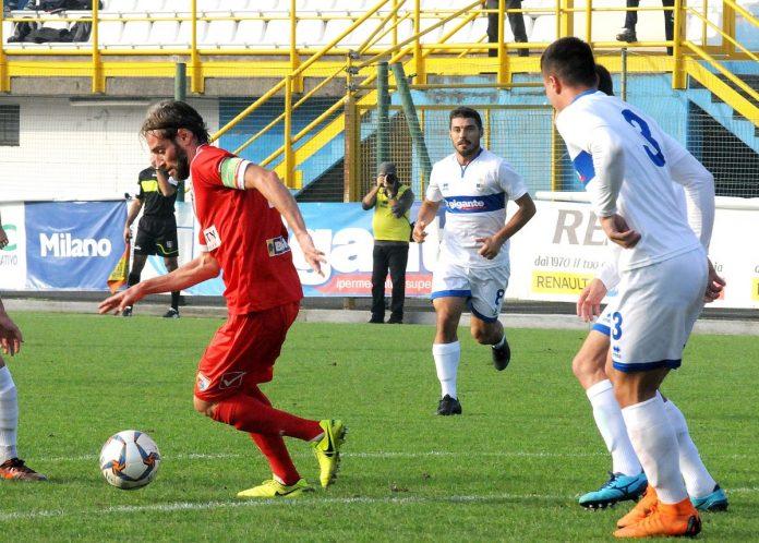 Cristian Altinier nel match d'andata
