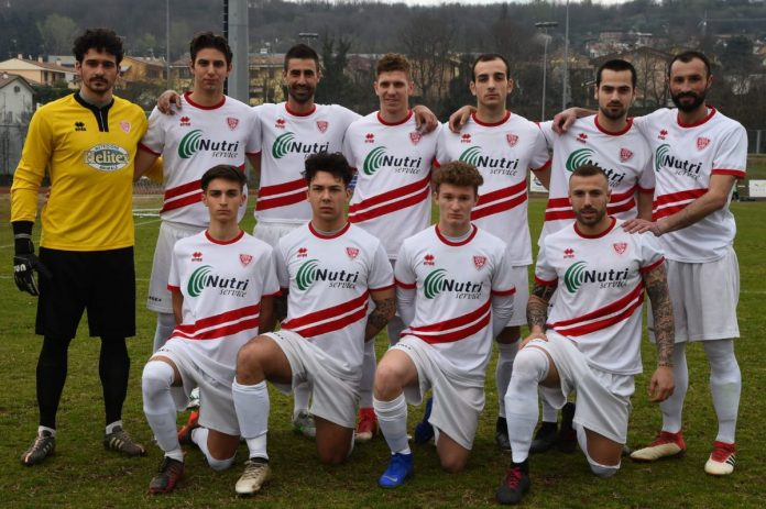 L'undici dell'Asola schierato nel derby col Castiglione