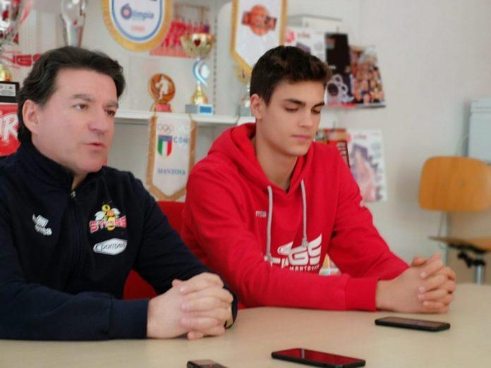 Visconti e coach Finelli