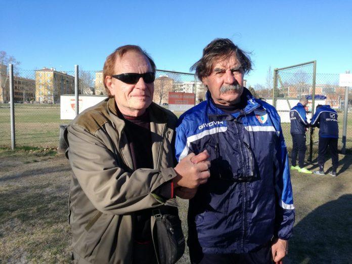 Pierangelo Maccari con mister Morgia