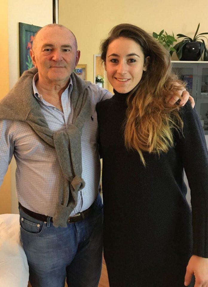 Sofia Goggia con il dott. Zanini