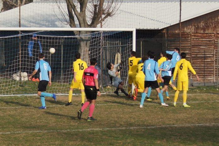 Il gol di Marcello Olivetti con l'Albinogandino