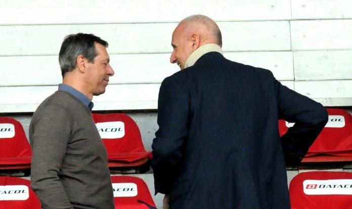 Il socio Ferrari col presidente Masiello