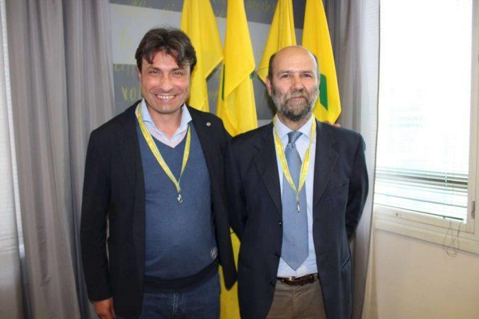 Giuseppe Groppelli (a sinistra), dirigente del Castellaro