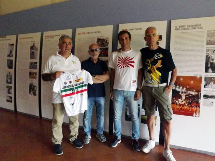 Un momento della presentazione del campionato italiano giornalisti. Da sinistra Armanini, Scemma, Grossi e Viberti