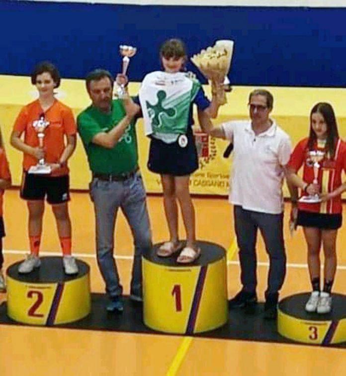 Maria Acuti esulta sul podio