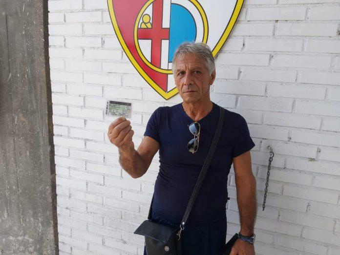 Giorgio Bianchi con l'abbonamento