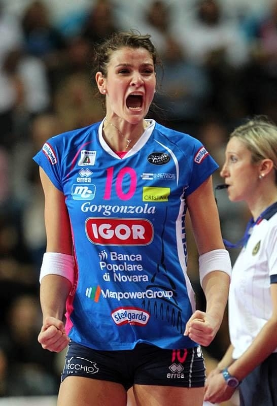 L'azzurra Cristina Chirichella (Novara)