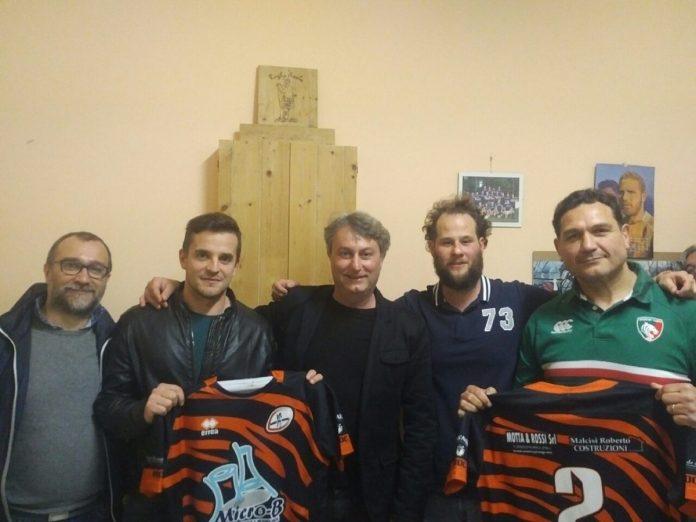 Da sinistra Pintossi, il presidente Malcisi, capitan Cigala e Castiglia
