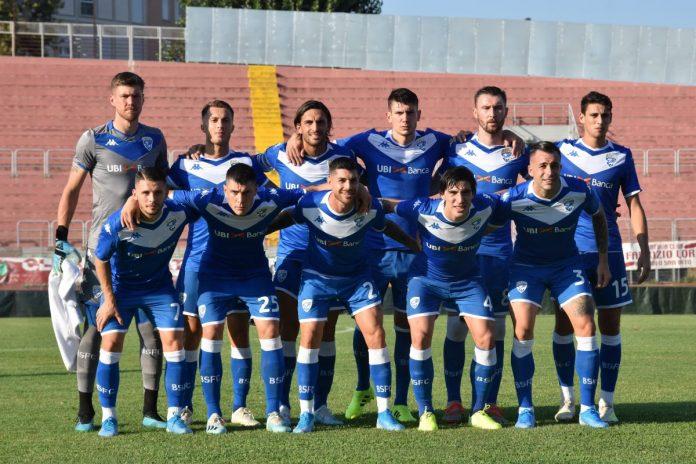 Il Brescia schierato al Martelli contro il Valladolid