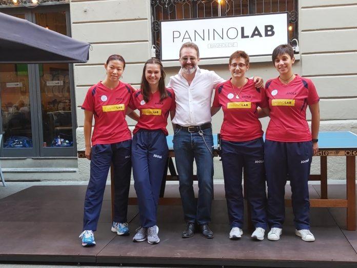 Le ragazze della Bagnolese alla paninoteca PaninoLab sui Navigli a Milano