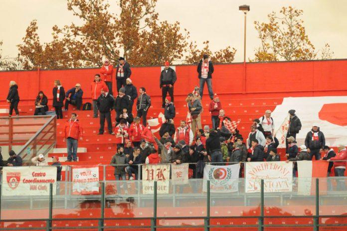 Tifosi mantovani a Forlì nel 2016