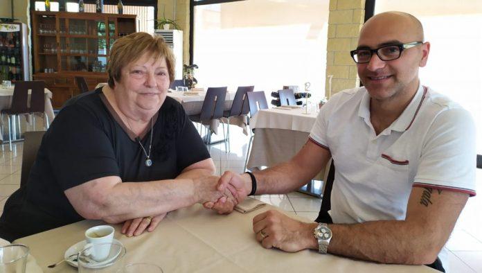 La presidentessa Carmen Rossi con coach Biagio Marone