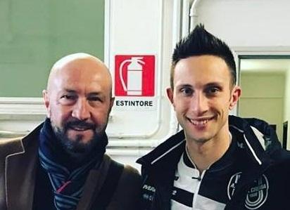 Jacopo Zenga con papà Walter