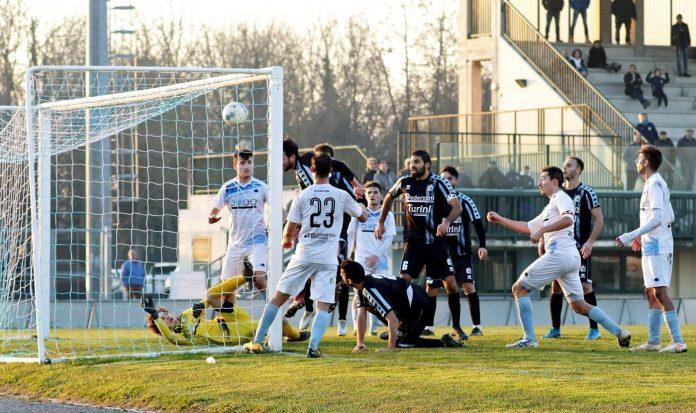 Il gol di Arduini alla Vighenzi