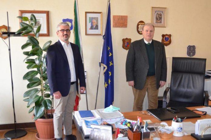 Il sindaco Palazzi con il questore Sartori