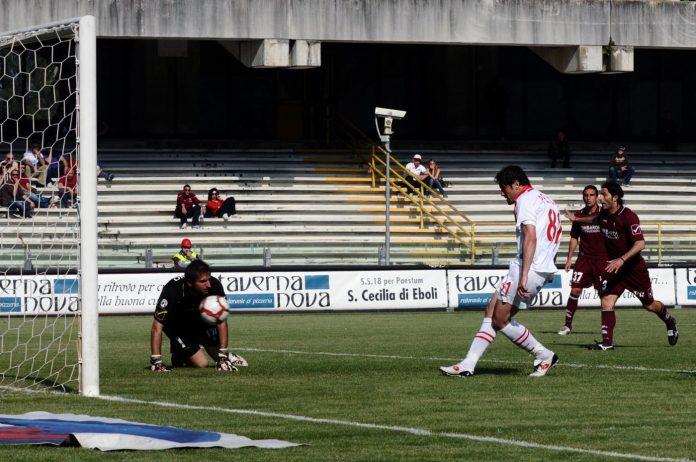 Il gol di Pellicori alla Salernitana