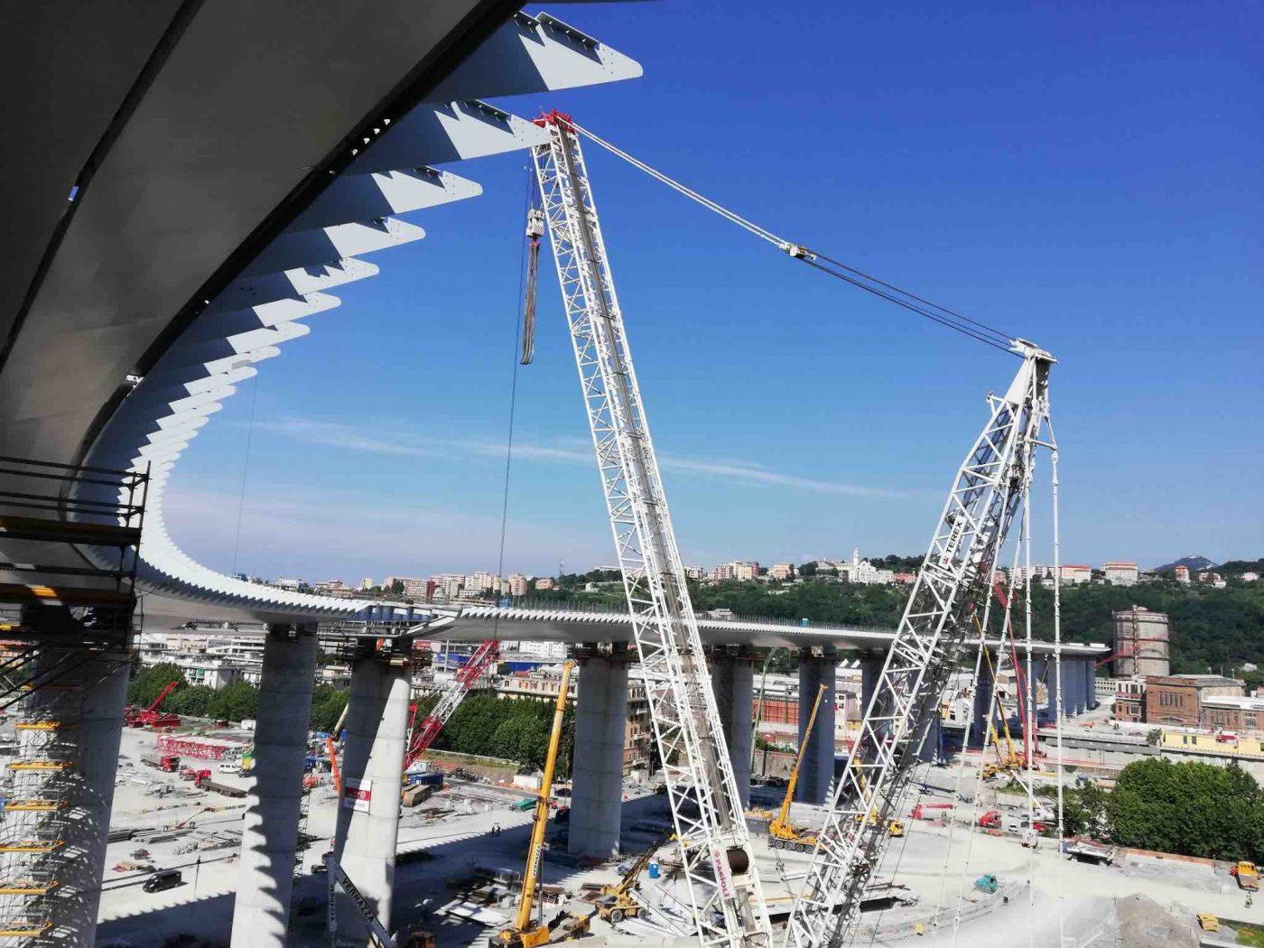 Oggi l'inaugurazione del nuovo ponte Genova San Giorgio: e c'è l'incognita pioggia