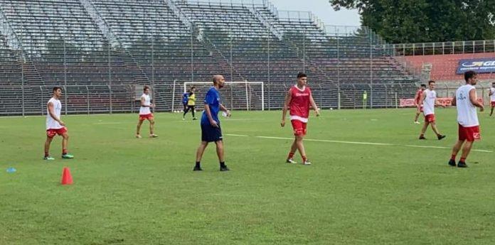 Un'immagine del primo allenamento del nuovo Mantova