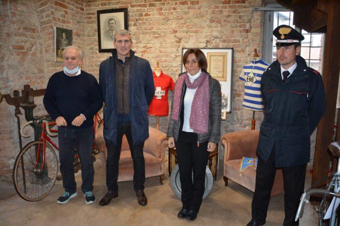 Guerra, il sindaco Galeotti, l'assessore Betteghella e il maresciallo Dini