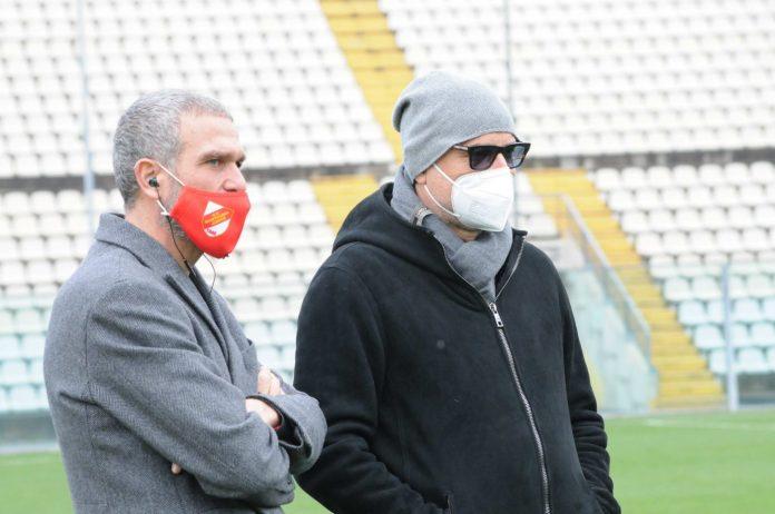Maurizio Setti (a destra) col ds Battisti