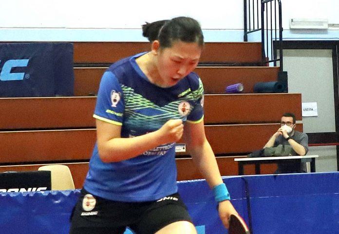 Maria Xiao esulta